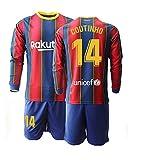 JEEG 20/21 Kinder Coutinho 14# Fußball Trikot Jugend Langarm Trainings Anzug (Kinder Größe 4-13 Jahre) (24)