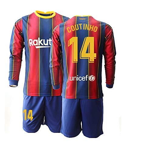 JEEG 20/21 Kinder Coutinho 14# Fußball Trikot Jugend Langarm Trainings Anzug (Kinder Größe 4-13 Jahre) (22)