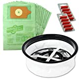Spares2go Paper Bags & Microfibre Filter For Numatic Henry Hetty James Vacuum Cleaner (Pack of 10 Bags + 10 Fresheners)