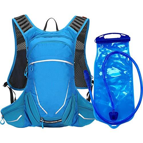 Hydration Pack 18L Outdoor Sport Cycling Run Water Bag Storage Hydration Pocket Backpack UltraLight Hiking Bike Riding Pack Bladder Knapsack BlueandBladder