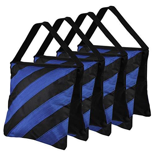 BEESCLOVER Sandbag Stripe Balance Gewicht Dubbele Lagen Sandbag voor Statief Boom Flash Light Stand, marineblauw