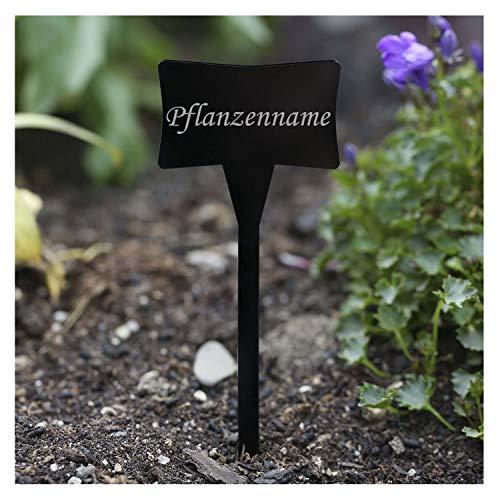 Verre acrylique noir-slave pflanzschilder choix prénom kräuterschilder pflanzenstecker-résistant aux intempéries Stevia