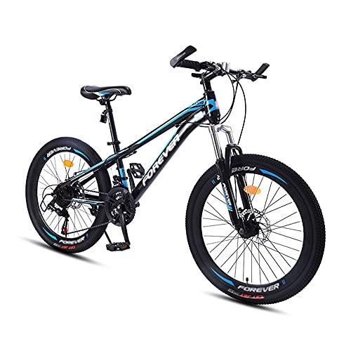 Bicicleta, Bicicleta de Montaña para Adultos, Bicicleta Todo Terreno de 24 Pulgadas Y 21 Velocidades, Cuadro de Acero con Alto Contenido de Carbono, Freno de Disco Doble, DiseñO de Bajo Alcance