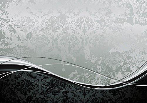 wandmotiv24 Fototapete Muster Barock Effekt XL 350 x 245 cm - 7 Teile Fototapeten, Wandbild,...