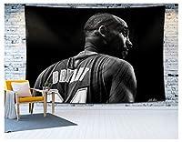 神戸レイカーズ24バスケットボールタペストリー、タペストリー壁掛けバスケットボール毛布記念タペストリーのための記念タペストリーのためのリビングルームの大学寮 White-150x180cm