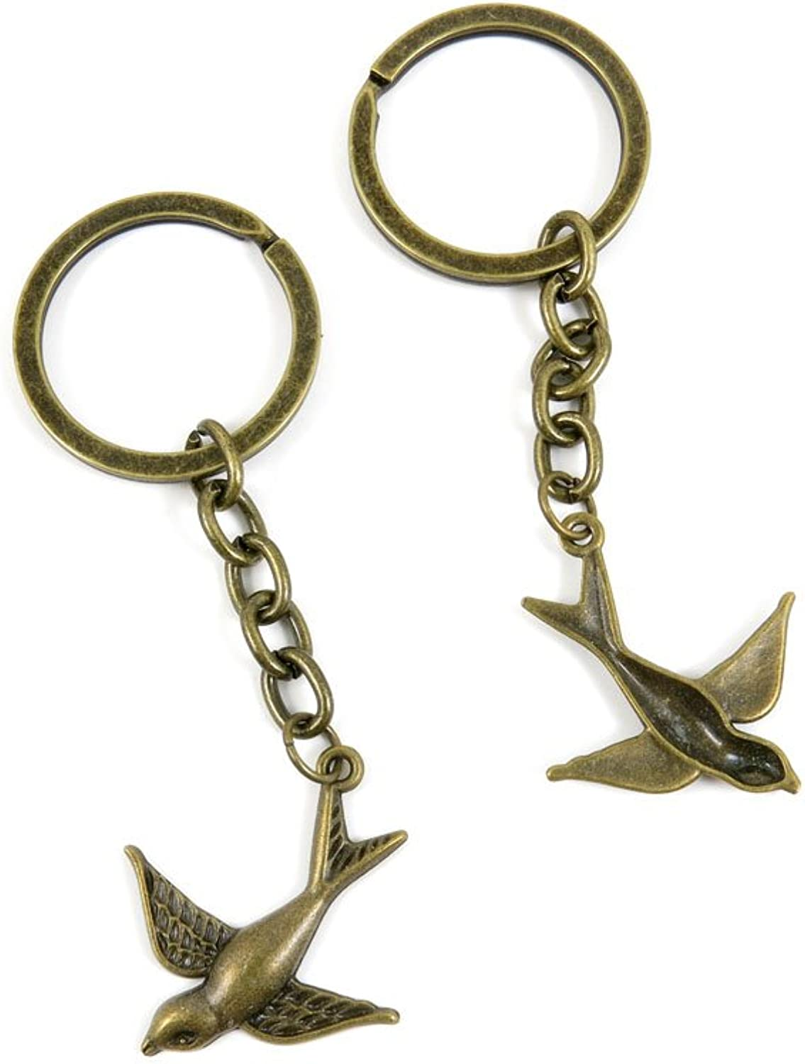 80 PCS Keyring Car Door Key Ring Tag Chain Keychain Wholesale Suppliers Charms Handmade A1IW4 Swallow