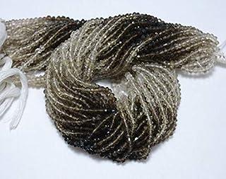 Jewel Beads Natural Beautiful jewellery 10 Strands, Shaded Smoky Quartz Rondelle Beads, Smoky Quartz Gem Stone, 4mm Beads, Faceted Rondelle, Gemstone Beads, 14 InchCode:- JBB-6105