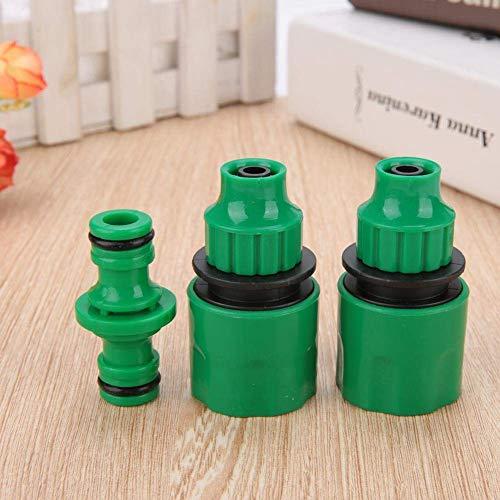 Duokon 3 Stücke 3/8 \'\' Gartenschlauch Verbinden Kit, Schnellkupplung Adapter für Heim Gartenschlauch Reparatur Werkzeug