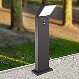 LED Außenleuchte schwarz Außenlampe Wandleuchte Standleuchte Aluminium Wegeleuchte 1504-800BM Standleuchte mit Bewegungsmelder