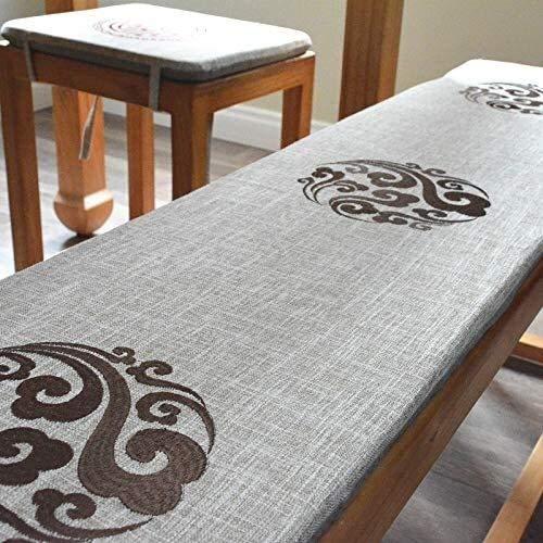 Cojines para Silla Chino de lino oscilación del banco amortiguador de la silla, no Slip Presidente del bordado de las Pastillas de Banda elástica lavable plegable asiento del sofá cojín del asiento po