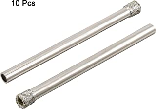 uxcell 10PCS 5/32-inch 4mm Diamond Coated Hole Saw Drill Bits for Glass Ceramic Tile Marble Rock Porcelain