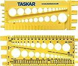 Taskar Tuerca, tornillo y calibre de medición de tamaño y paso de rosca (imperial/métri...