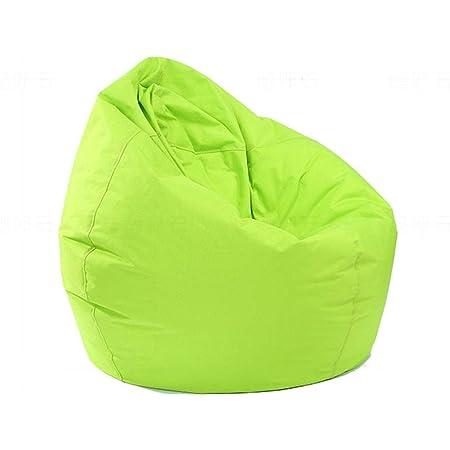 Beanbag Copre Sedia da gioco per adulti e bambini Lazy Sofa Chair Beanbag fodera impermeabile per interni ed esterni blu, 70 x 80 cm