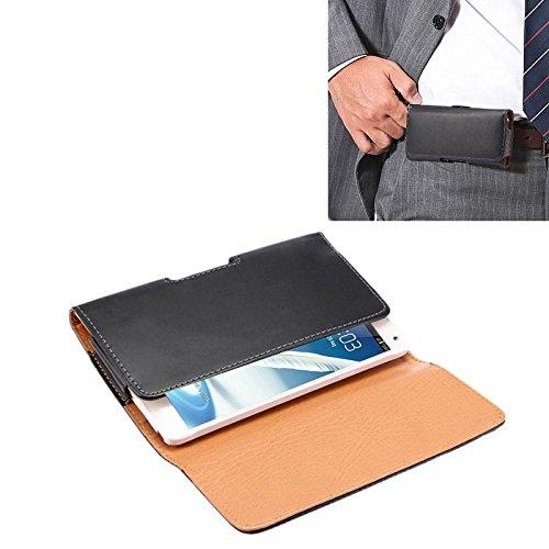 Funda Galaxy Funda de Cuero de Flip Vertical de Textura de Caballo Loco/ Bolso de Cintura con tablilla Trasera para Samsung Galaxy Note II / N7100