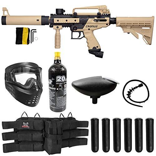 Maddog Tippmann Cronus Tactical Titanium CO2 Paintball Gun Marker Starter Package - Black/Tan