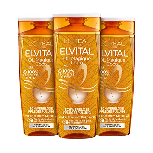 L\'Oréal Paris Elvital Öl Magique Coco Shampoo, 3er Pack (3 x 300 ml)