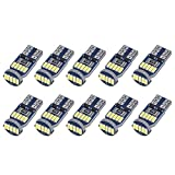 SanGlory 10 x T10 W5W LED Lampadine Canbus, Auto Lampade 15 x 4014 SMD LED per Luci di Pos...