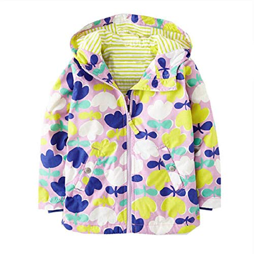 Infant Girl Jacket Autumn Winter Baby Coat Cotton Hooded Warm Outerwear Kids Coat Newborn Jackets Purple 6M