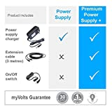 MyVolts 9V power supply compatible with Korg Synth Volca Sample - UK plug + 5-way splitter cable