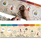 Siebenschau® Wochenplan Kinder /Montessori inspiriert/ Lernen Wochentage/Wochenkalender/Wochenplaner/Lernkalender/Tagesplan/ Tagesplaner/ Dauerkalender/ handmade/aus Holz, FSC zertifiziert