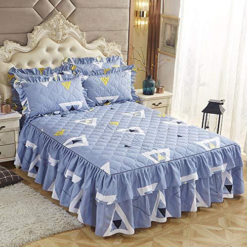CYYyang Protector de colchón, algodón, poliéster, Hoja de Cama de Encaje de Falda de Cama engrosada-16_150 * 200cm