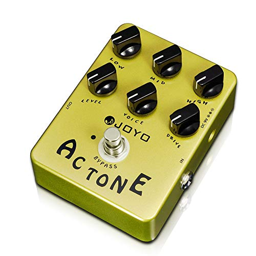 JOYO AC Tone Amp Simulator Pedal of AC30 Vintage Tube Amplifier British Rock Distortion Sound for Electric Guitar Effect - Bypass (JF-13)
