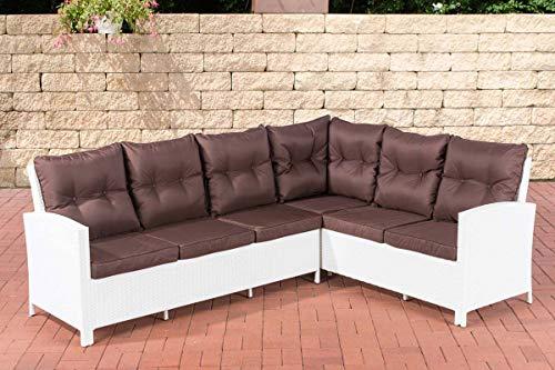 CLP Banco de jardín sofá minari | esquina Polirratán con asiento acolchado de plástico | sofá moderno para el jardín, disponible en diseños diferentes de combinaciones