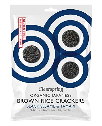 Clearspring - Organic Japanese Brown Rice Crackers - Black Sesame - 40g