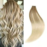 Best Tape In Hair Extensions - Sixstarhair Tape In Hair Extensions Balayage Blonde Premium Review