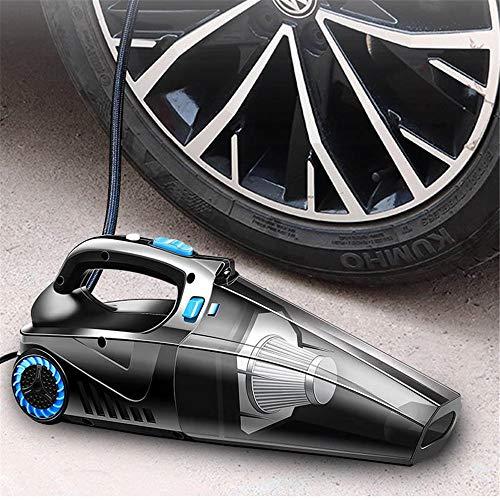 MELLRO Car Air Pompe 60s 3600Pa Potenza aspirazione Veloce Senza Fili di Ricarica Multi-Funzione Auto Aspirapolvere Illuminazione Air Pump Accessori Auto (Color : Black, Size : One Size)