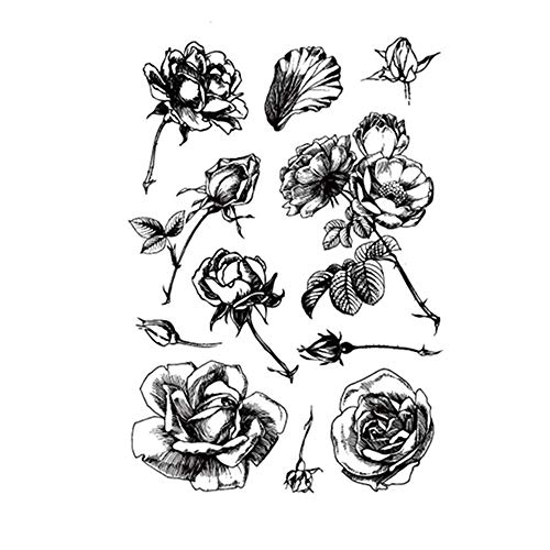 Roses Flower Leaves Stamp Rubber Clear Stamp/Seal Scrapbook/Photo Album Decorative Card Making Clear Stamps