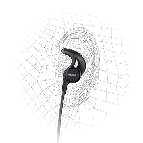 AUKEY - Auriculares inalámbricos, 3 modos de sonido EQ, auriculares Bluetooth magnéticos con diseño resistente al sudor y aptX para iPhone, teléfonos Samsung, Apple Watch y más
