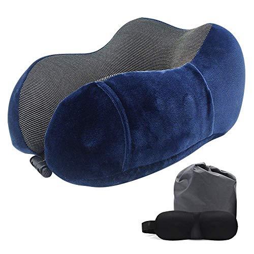N/P Almohada de viaje Best Memory Foam Neck Pillow Head Support Almohada suave para dormir descanso, avión coche y uso en el hogar (rosa)