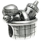 Queenberry Charm-Anhänger für Babyflaschen, Sterling-Silber 925, europäischer Stil