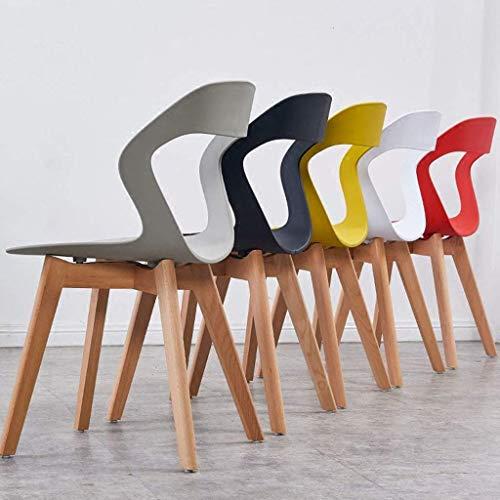 Krzesło Do Jadalni Z Litego Drewna Biurowe Krzesło Rekreacyjne Z Oparciem Do Salonu Biurowego Salon Jadalnia Kuchnia Krzesło Do Jadalni, Białe,