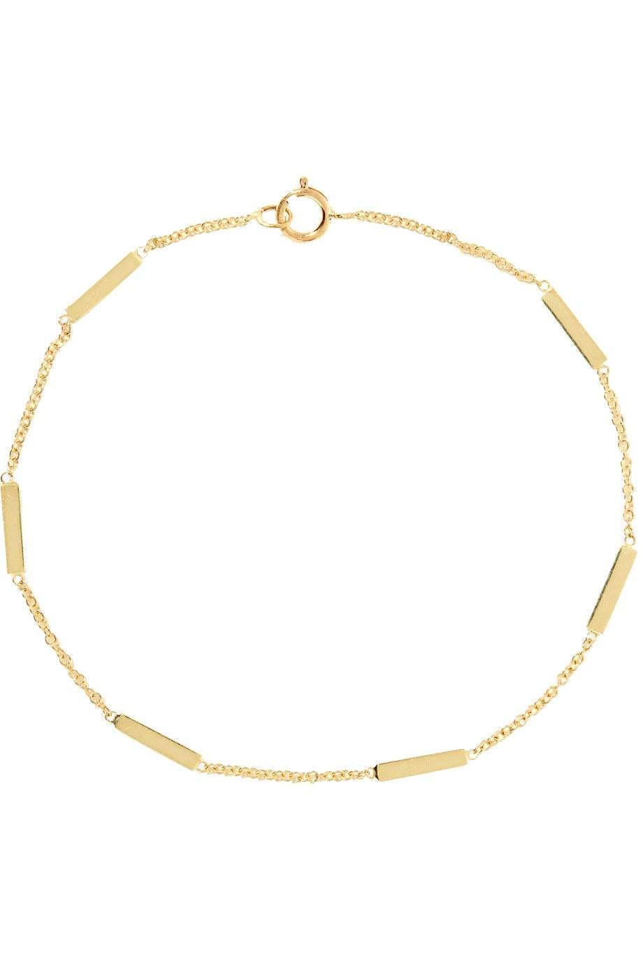 Real 14k Special price for a limited time Solid 1 year warranty Gold bracelet small bar Jewelry