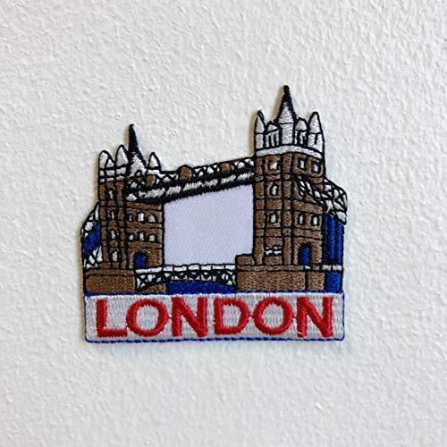 Parche bordado coser planchar puente torre Londres