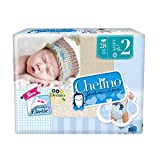 Chelino Fashion & Love - Pañal para recién nacido, talla 2 -6 paquetes x 28 unidades