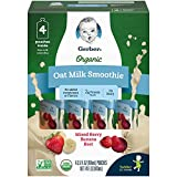 Gerber Purees Organic Oat Milk Smoothie, Mixed Berry, Banana & Beet Pouches, 3.5 Ounces 16 Count (Pack of 1)