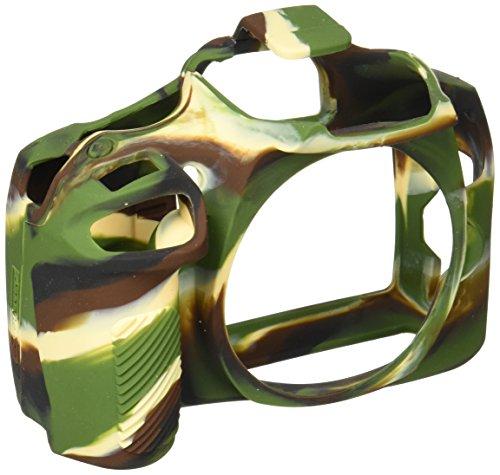easyCover by Bilora silicone custodia protettiva Per Canon 1300d Camouflage/Nero