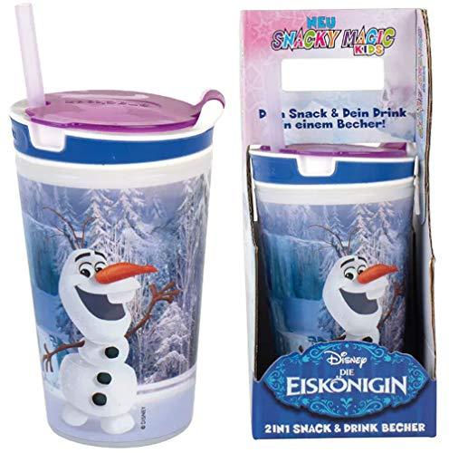 2 x Disney Olaf 2-in-1 Snack Cup Snacky Magic Frozen Kids from Frozen