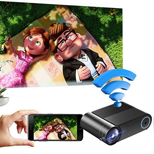 Proyector, Mini Proyector De Vídeo, Teléfono Móvil De La Pantalla Del Proyector Casa 720P Mini-Portátiles Compatibles Con El Proyector LED HD Portátil Proyector Casero, VGA, HDMI, AV, USB Compatible