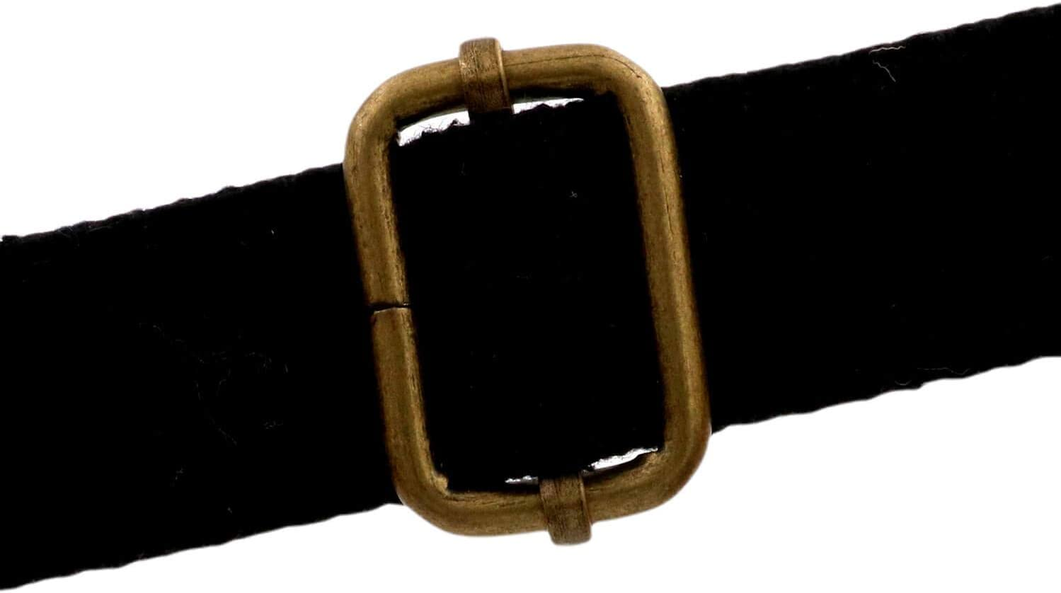 Bikicoco para correas ajustables no soldadas 1 x 0,6 pulgadas paquete de 10 unidades bronce Hebilla de ajuste deslizante de metal con barra central m/óvil