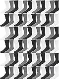 72 Pairs Crew Socks for Men Women, Bulk Cotton Sport Sock, Various Styles