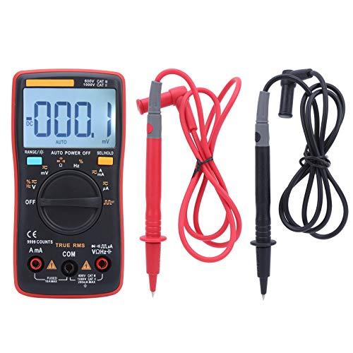 Yagosodee ZT109 Multímetro digital profesional 999 cuenta True RMS AC/DC probador de voltaje de corriente rojo+azul