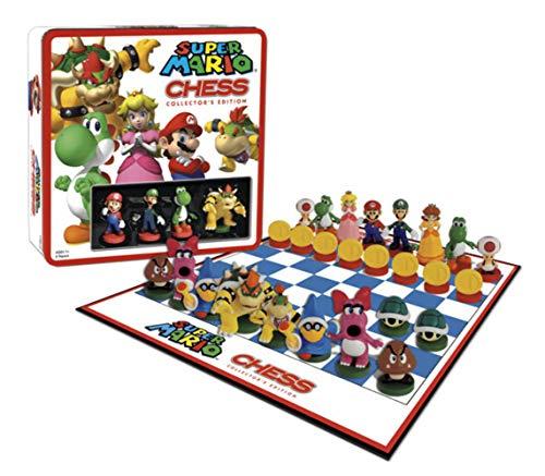 Universal Trends - Super Mario Chess - Ajedrez con figuras de Super Mario - Juego ajedrez Súper Mario 3D Edición Deluxe