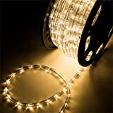 Leisurelife Waterproof LED Rope Lights Outdoor, Warm White, 150FT / 45M, 1620...