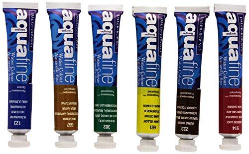 Daler-Rowney Aquafine Set de 6 tubes de peinture pour débutant 8 ml