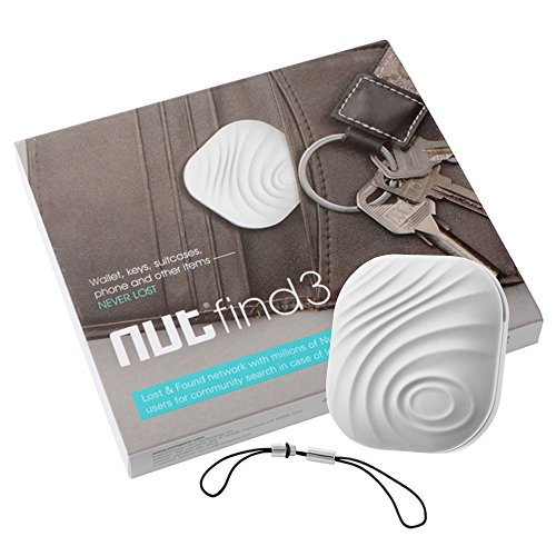 Mini Bluetooth GPS Tracker, Key Finder, Nut Find 3 Anti-lost Smart Tag, Phone Wallet Bag Pet Dog Locator with App Control Bi-directional Tracking Alarm for iOS/Android (White)