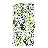 PU手帳型 カードタイプ スマホケース Xperia Z3 Compact (SO-02G) [ボタニカル・ミント] 花柄 草花 水彩 フラワー エクスペリア ゼットスリー コンパクト スマホカバー 携帯カバー [FFANY] botanical 190704c
